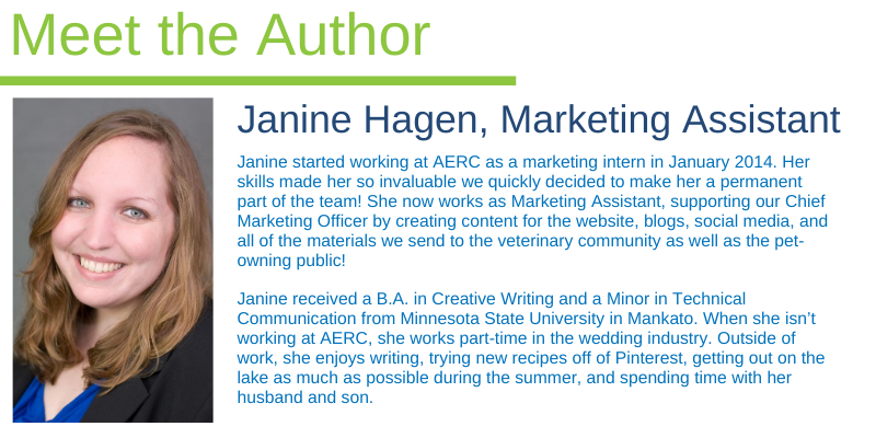 Janine Hagen, Marketing Assistant, Animal Emergency & Referral Center of Minnesota