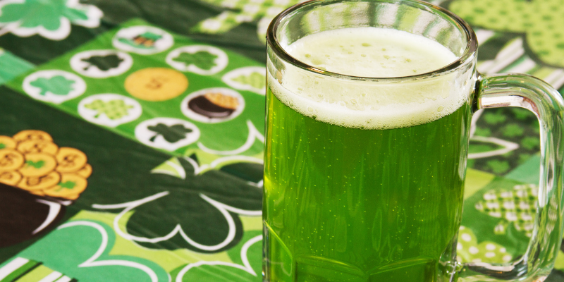 green beer, alochol toxicity, alcohol poisoning, St. Patrick's Day, St. Paddy's Day, St. Patrick's Day pet dangers, pet health, pet dangers, holiday pet dangers, emergency vet, Minnesota emergency vet, Twin Cities emergency vet, Animal Emergency & Referral Center of Minnesota